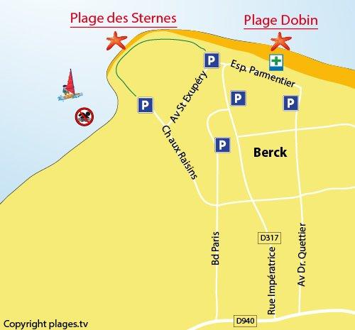 Map of the Sternes Beach in Berck