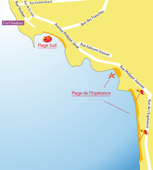 Carte plage sud de Fouras