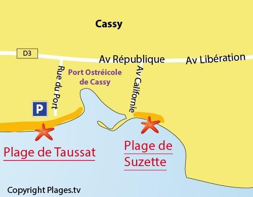 Plan de la plage Suzette à Lanton