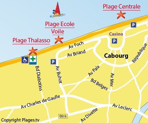 Map of the Thalasso Beach in Cabourg