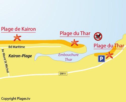 Carte de la plage du Thar à St Pair sur Mer