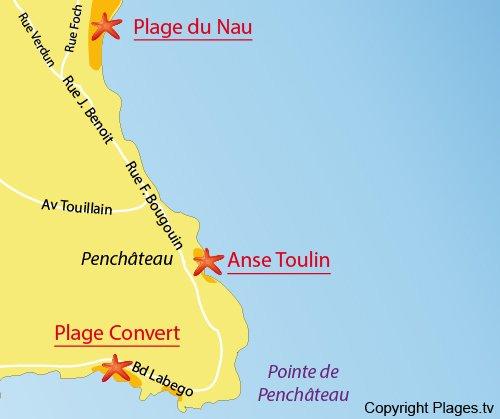 Mappa della Ansa di Toulin a Le Pouliguen