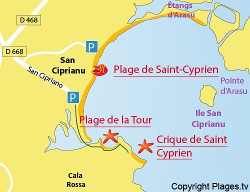 Access to Tour Beach in St Cyprien - Corsica
