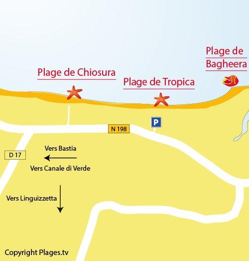 Map of Tropica Beach in Linguizzetta
