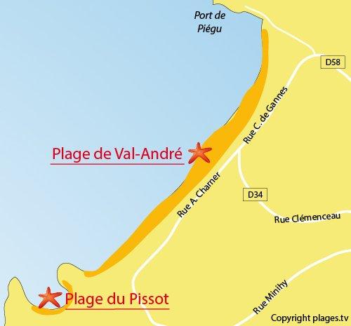 Carte de la plage de Pléneuf