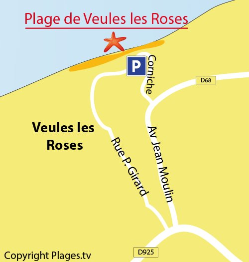 Veules les Roses beach in Normandy
