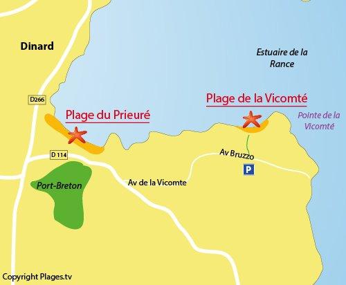 Map of the Vicomté Creek in Dinard