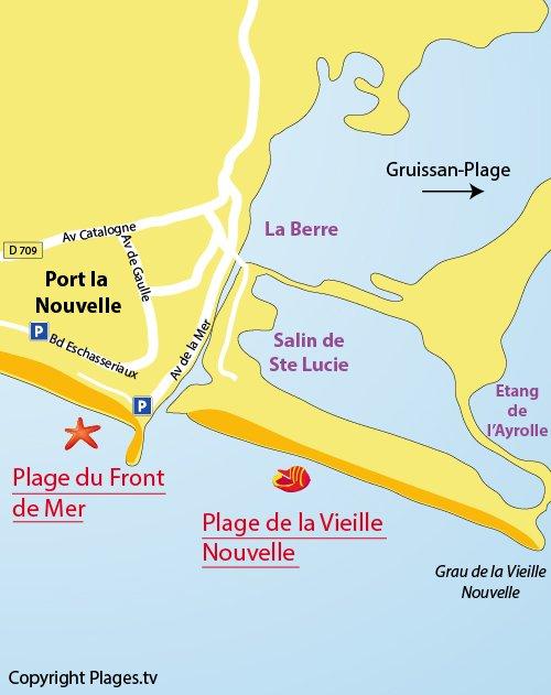 Plan de la plage de la Vieille Nouvelle à Port la Nouvelle (11)
