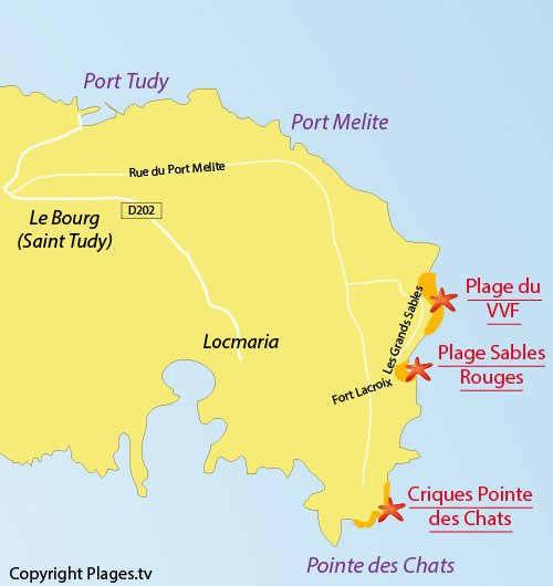 Map of VVF Cove - Groix Island