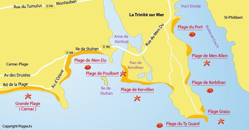Plage De Kervillen La Trinit 233 Sur Mer 56 Morbihan