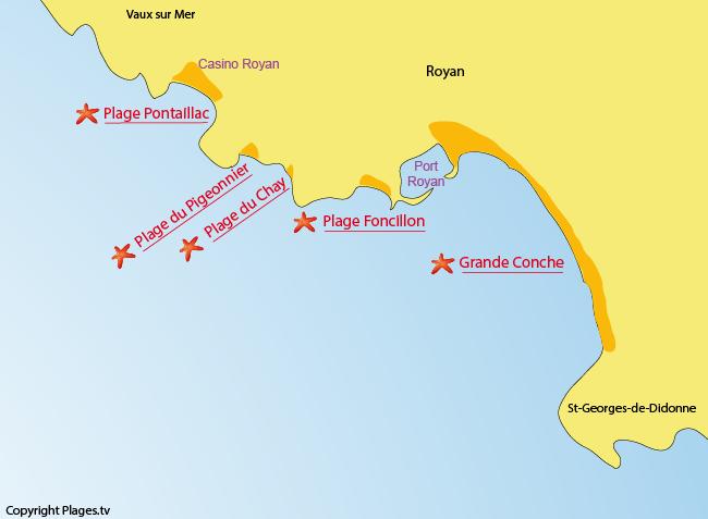 Plage de pontaillac royan 17 charente maritime poitou - Office du tourisme de royan charente maritime ...