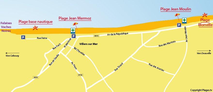 Carte des plages de Villers sur Mer (14)