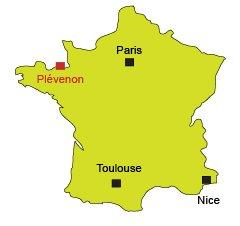 Localisation de Plévenon au Cap Fréhel