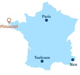 Localisation de Plouarzel en Bretagne