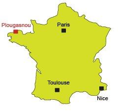 Localisation de Plougasnou en Bretagne