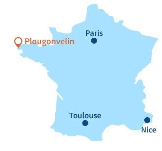 Localisation de Plougonvelin en Bretagne