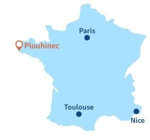Carte Bretagne Plouhinec.Plages Plouhinec 29 Plouhinec Finistere Bretagne