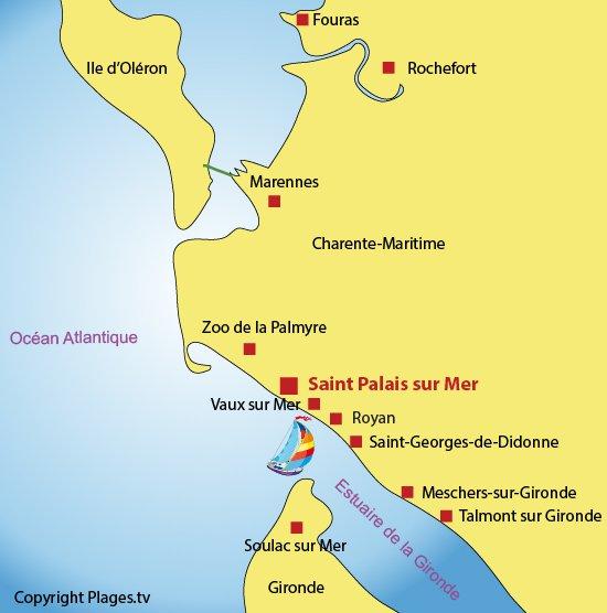 Saint palais sur mer et l 39 esturaire de la gironde sites - Office du tourisme de saint palais sur mer ...