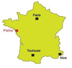 Carte de Pornic en Loire Atlantique