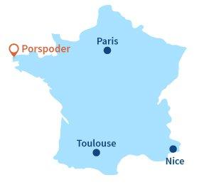 Localisation de Porspoder en Bretagne