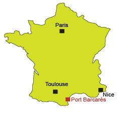 Map of Port Barcarès in France