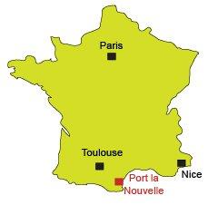Mappa di Port la Nouvelle - Francia