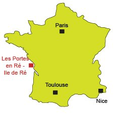 Location of Les Portes en Ré in France