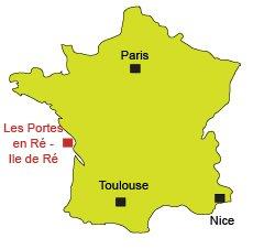 Location of Les Portes en Ré in France