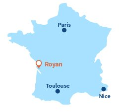 Map of Royan in France