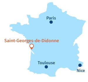Location of Saint Georges de Didonne in France