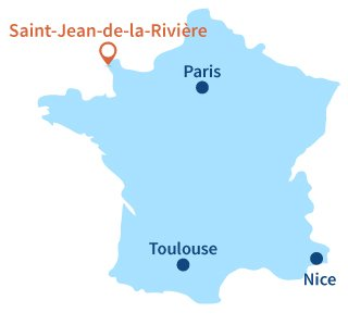 Localisation de St Jean de la Rivière dans la manche