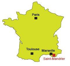 Carte de Saint-Mandrier dans le Var