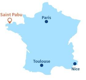 Localisation de Saint Pabu en Bretagne