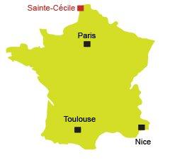 Localisation de Sainte-Cécile-Plage dans le Nord