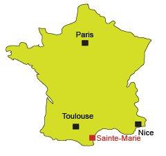 Localisation de Sainte-Marie dans le 66