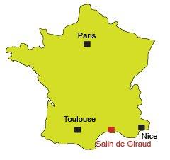 Carte de Salin de Giraud en Camargue