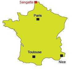 Location of Sangatte in France