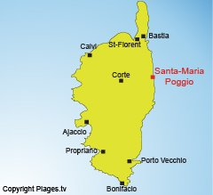 Localisation de Santa Maria Poggio en Corse