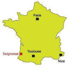 Localisation de Seignosse dans les Landes