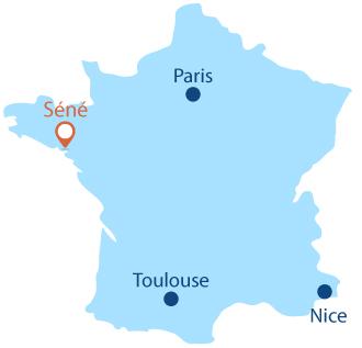 Localisation de Séné en Bretagne