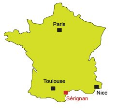 Location of Sérignan in France