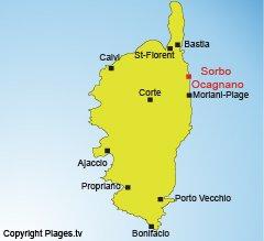 Localisation de Sorbo Ocagnano en Corse