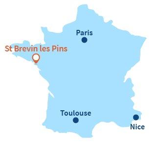 Localisation de St Brevin les Pins