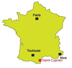 Mappa di Saint Cyprien