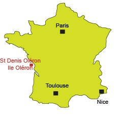 Location of St Denis d'Oléron in France