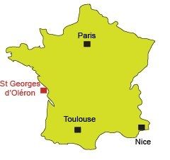 Location of St Georges d'Oléron in France
