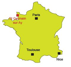 Location of St Germain sur Ay - France - Normandy