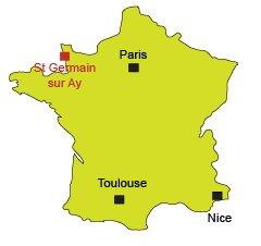 Localisation de St Germain sur Ay - Manche