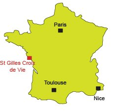 Location of Saint Gilles Croix de Vie in France