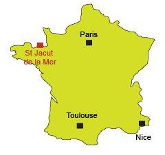 Location of St Jacut de la Mer in France in Brittany